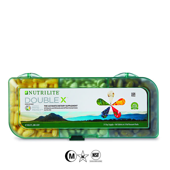 Nutrilite™ Double X™ Vitamin/Mineral/Phytonutrient Supplement - 31-Day Supply with 3 Compartment Case (ORDER LIMIT 3)