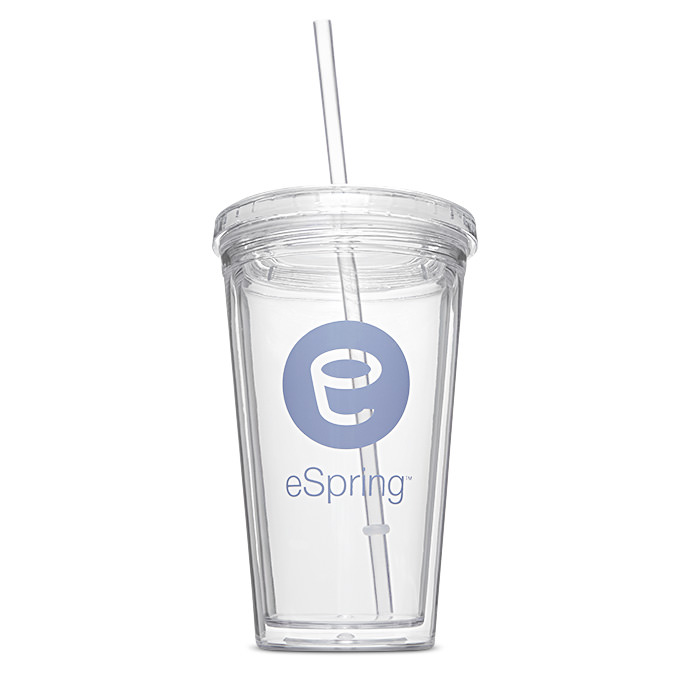 eSpring™ Logo Insulated Cup with Straw