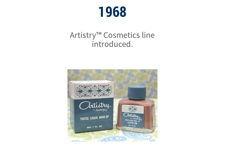 1968: Artistry™ Cosmetics line introduced.